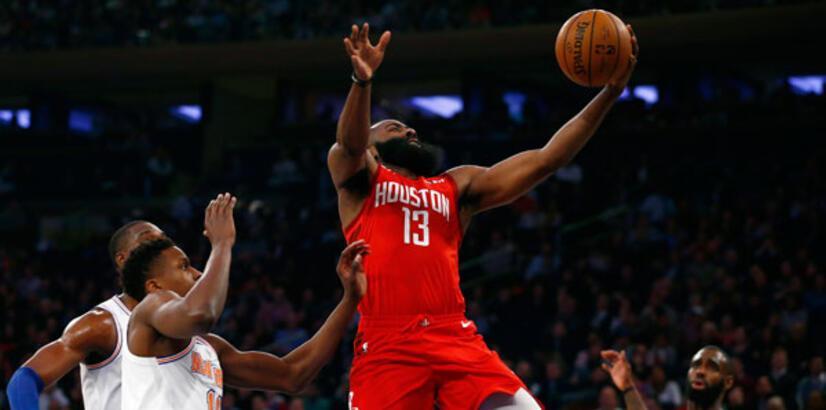 James Harden'dan Knicks potasına 61 sayı