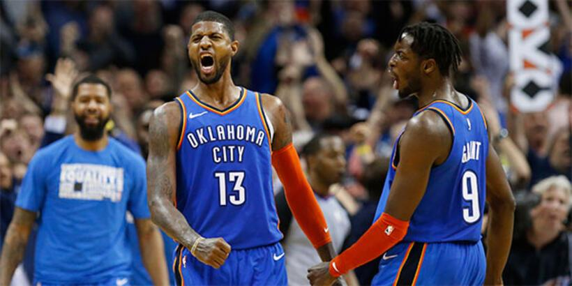 Oklahoma, Westbrook ve George'la kazandı