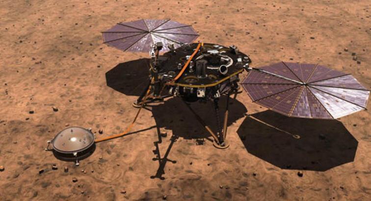 NASA'nın InSight adlı uzay aracı Mars'a indi! İşte ilk kare