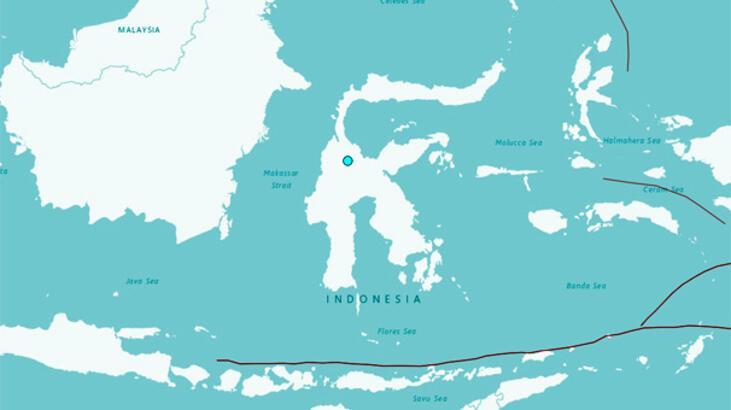 Endonezya'da 5.1 büyüklüğünde deprem