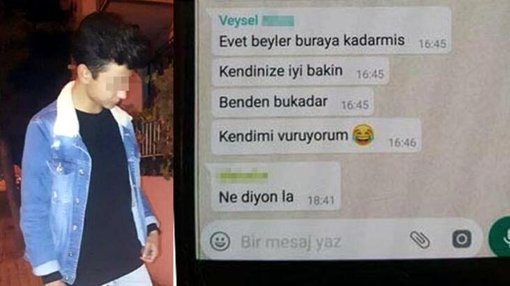 WhatsApp'tan 'Kendimi vuruyorum' yazıp, intihar etti