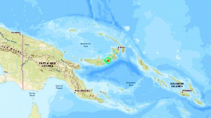 Son dakika... Papua Yeni Gine'de deprem!