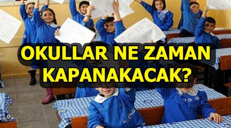 İkinci dönem ne zaman bitecek? Okulların kapanma tarihi...