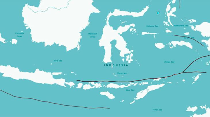 Son dakika: Endonezya'da 5.4 büyüklüğünde deprem