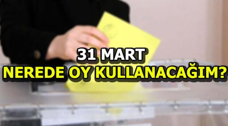 YSK seçmen yeri sorgulama | 31 Mart nerede oy kullanacağım?