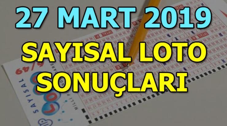 Sayısal Loto sonuçları belli oldu! (27 Mart MPİ Sayısal Loto çekiliş sonuç sorgulama)