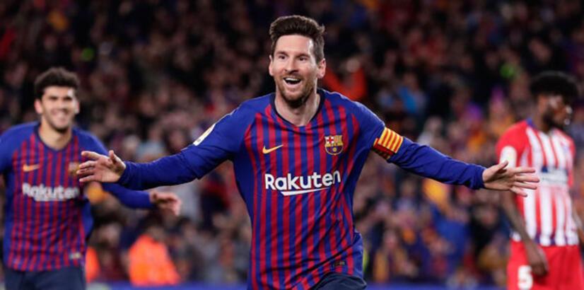 Barcelona, Atletico Madrid'i yıktı! Messi rekor kırdı...
