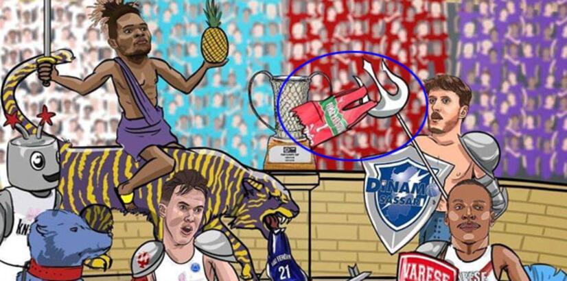 FIBA Europe'un karikatürü, Karşıyaka'yı kızdırdı