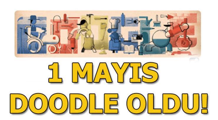 1 Mayıs İşçi Bayramı Doodle oldu! Google'dan 1 Mayıs sürprizi...