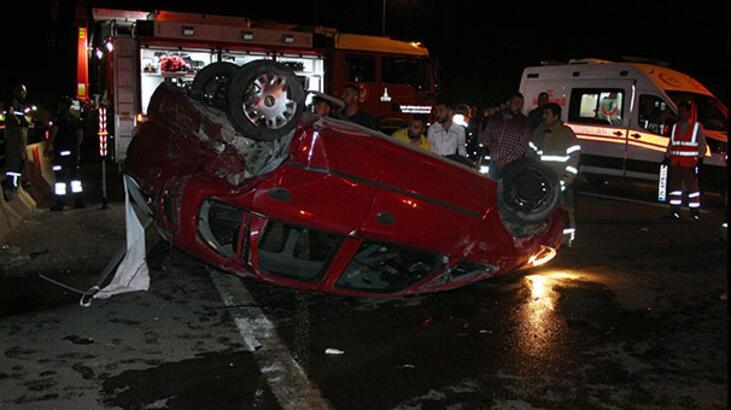 İzmir'de zincirleme trafik kazası: 1 yaralı