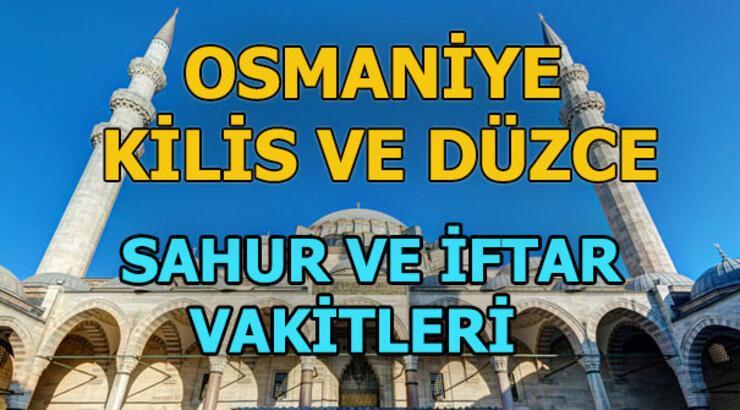 Kilis, Osmaniye ve Düzce'de iftar ne zaman? Akşam ezanı saat kaçta?