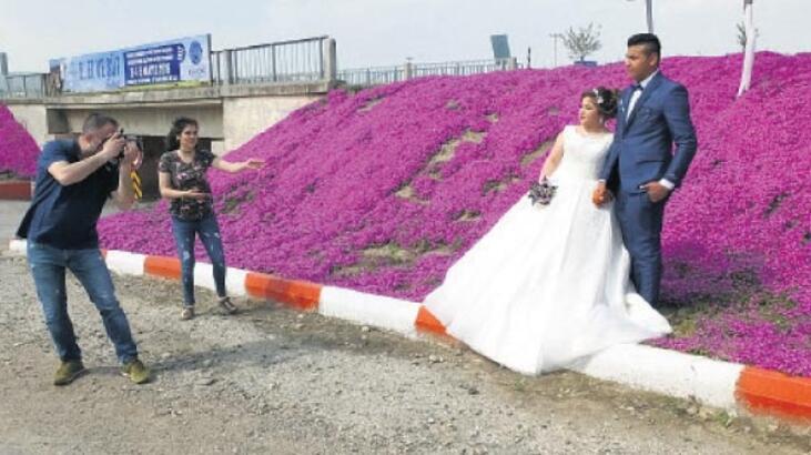 Evlenecek çiftlerin doğal stüdyosu oldu