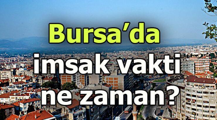Bursa imsak saati | Bursa'da sahur saat kaçta?