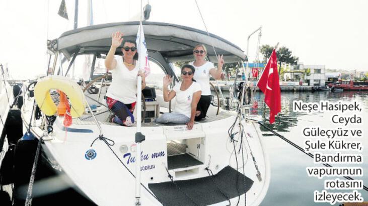 Üç kadın denizci Samsun rotasında