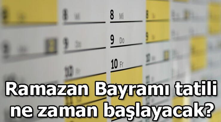 Ramazan Bayram hangi günlere denk geliyor? Ramazan Bayramı tatili kaç gün?