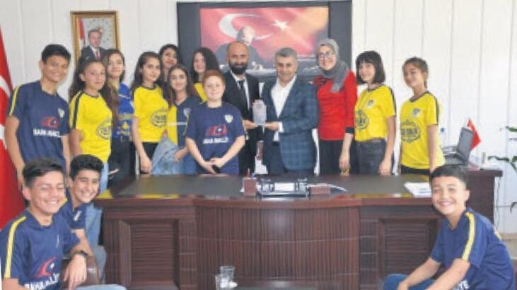 Spor ve sporcu dostu Kaymakam Tunç'a ziyareti