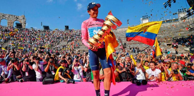İtalya Bisiklet Turu'nu Carapaz kazandı