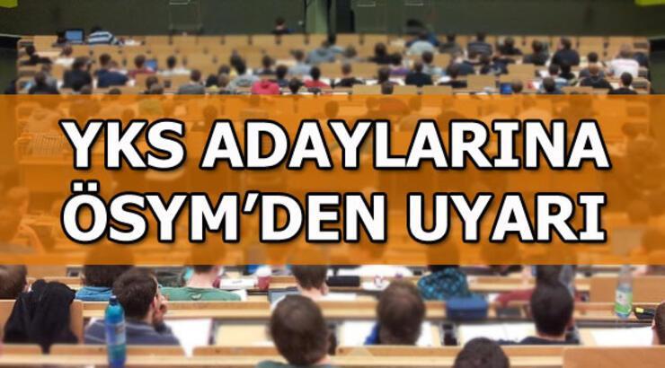 YKS üniversite sınavı için geri sayım! ÖSYM'den YKS adaylarına uyarı