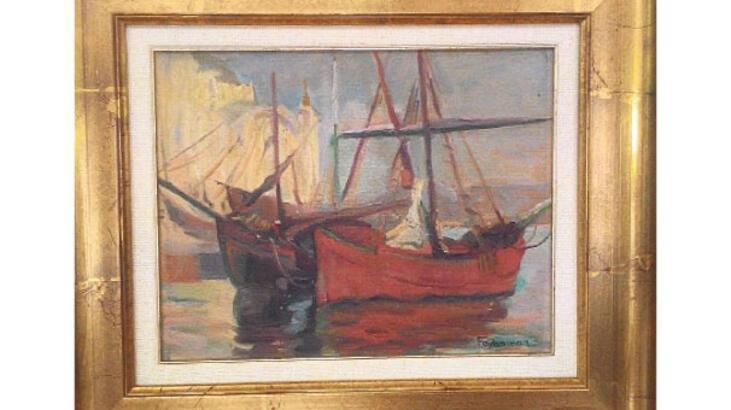 O tablo, müzayede şirketinde bulundu