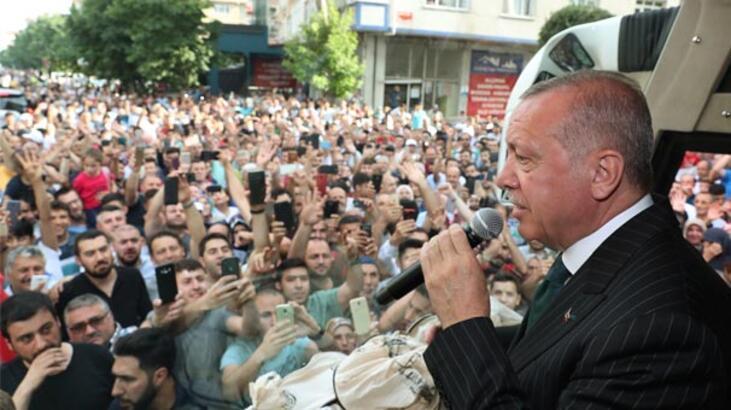 Cumhurbaşkanı Erdoğan, Bahçelievler'de vatandaşlara hitap etti