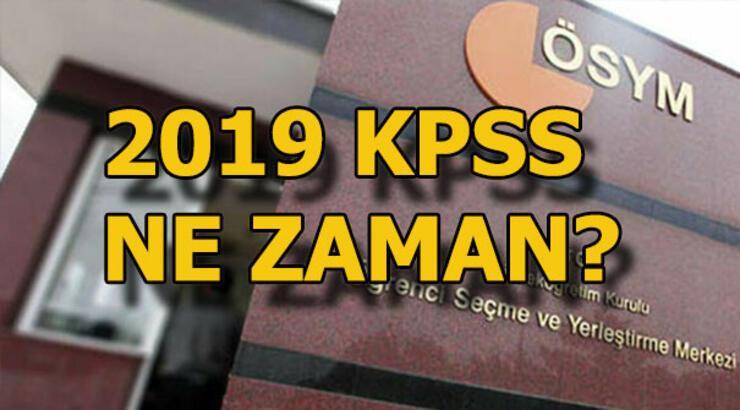 2019 KPSS tarihleri belli oldu! KPSS sınav ve sonuç tarihleri ne zaman?