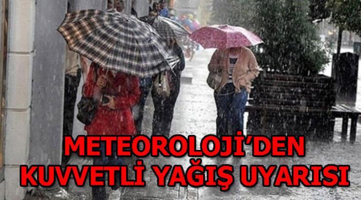 Meteoroloji'den kuvvetli yağış uyarısı! İstanbul'da hava durumu bugün nasıl olacak?