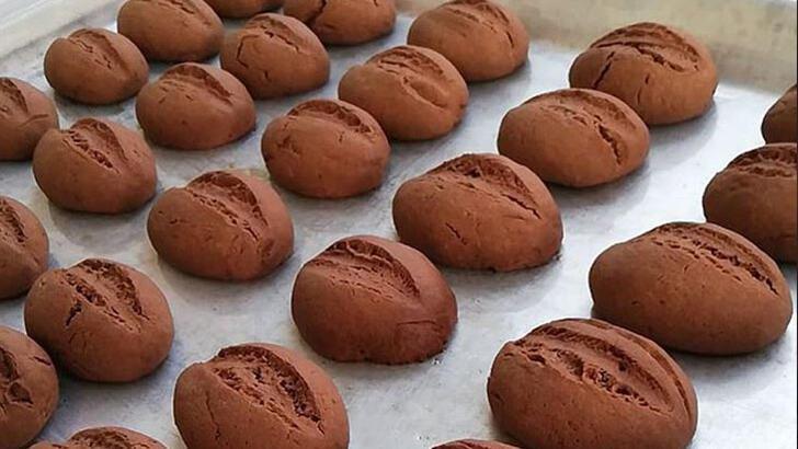 Şekliyle dikkat çeken kurabiye: Kahve çekirdeği