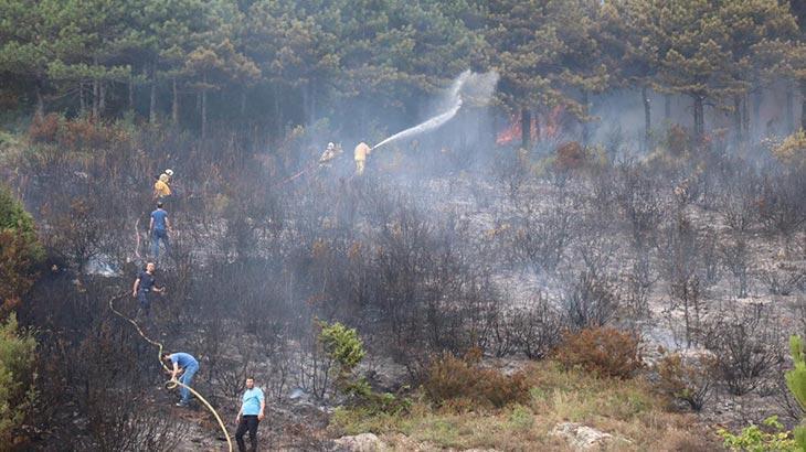 Aydos ormanındaki yangına ilişkin valilikten açıklama
