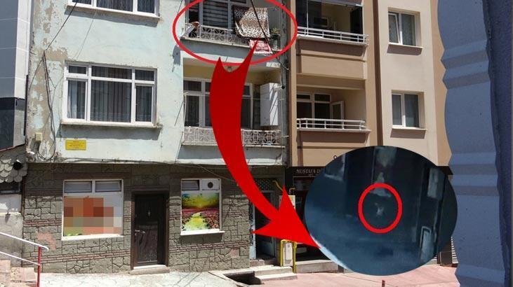 2. kattan düştü... Çamaşır ipi kurtardı!