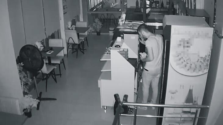 Pişkin hırsız soyduğu iş yerinde çiğ köfte yedi