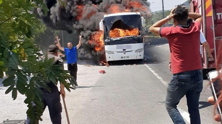 Son dakika... Balıkesir'de facia! Yanan otobüste 5 kişi öldü