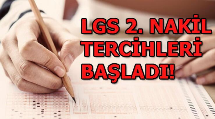LGS 2. nakil başvuruları başladı! E-okul Lise boş kontenjanları