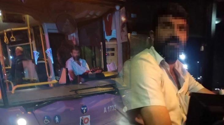 İstanbul'da otobüs şoförü yolcunun üzerine yürüdü!