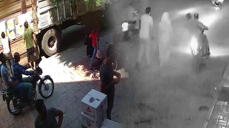 2 kadını adım adım takip edip kapkaç yaptılar
