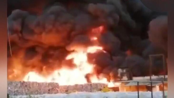 Ülke şokta! İmha deposunda büyük yangın