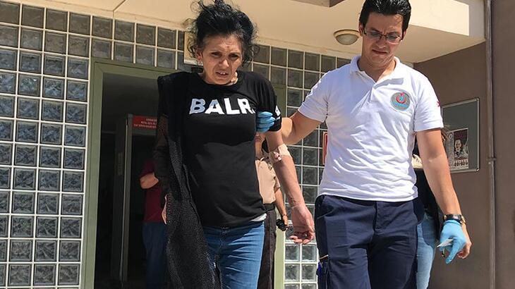 Uyuşturucu ticaretinden tutuklanan kadın bayıldı