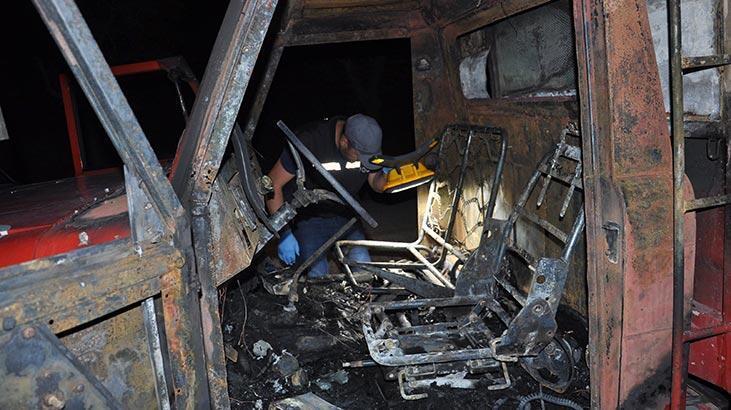 Araçları bile ateşe verdiler! İki aile birbirine girdi