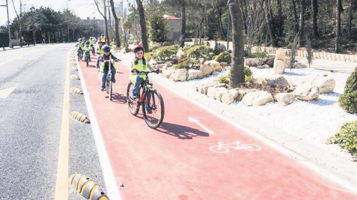Karayoluna bisiklet şeritleri yapılacak