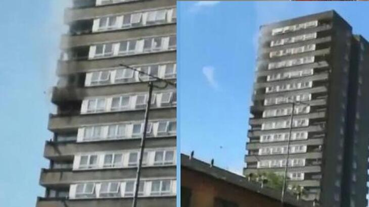 18 katlı apartmanda büyük panik!
