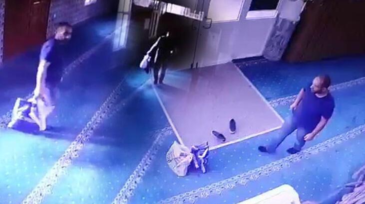 Kartal'da camilere dadanan hırsız kamerada