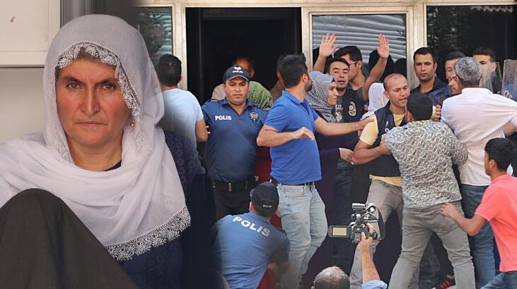 HDP'lilerin oturma eylemi yapan anneye saldırısı güvenlik kamerasında