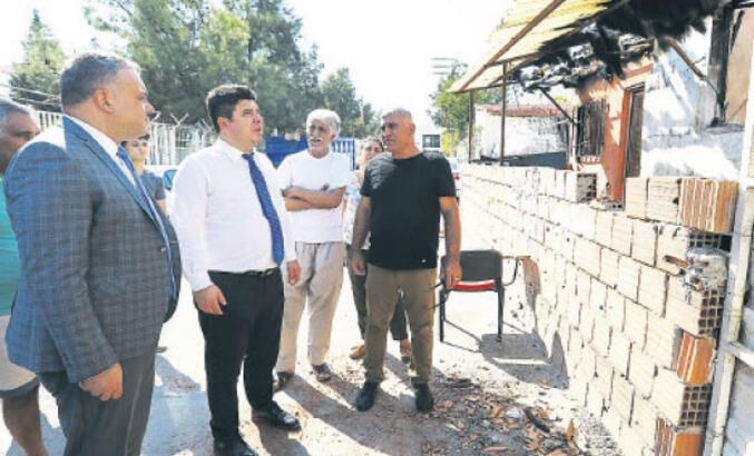 'Vatandaşın yanan evini onaracağız'