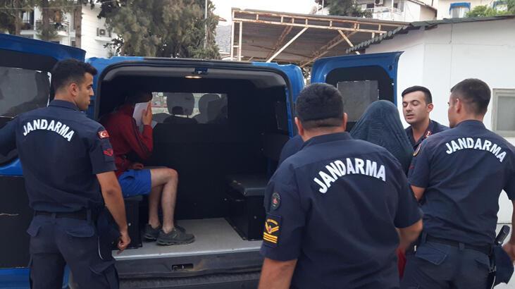 Muğla'da yakalandılar! Utançlarından yüzlerini gizlediler