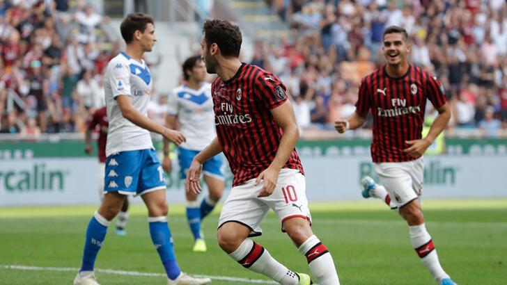 Milan'a galibiyeti Hakan Çalhanoğlu getirdi!