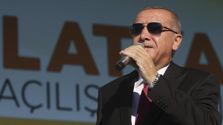 Cumhurbaşkanı Erdoğan'dan Malatya'da 'güvenli bölge' resti