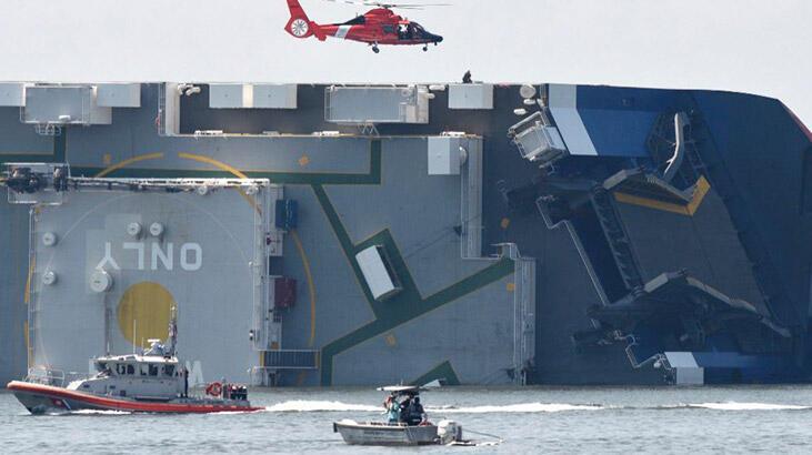Alabora olan yük gemisindeki son 4 mürettabat kurtarıldı