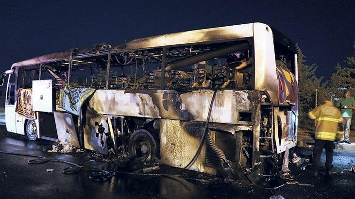 Bir ayda sekiz  otobüs yandı