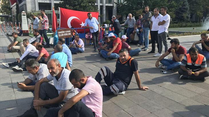 İBB'de işten çıkarılan işçilerin eylemi 18. gününde