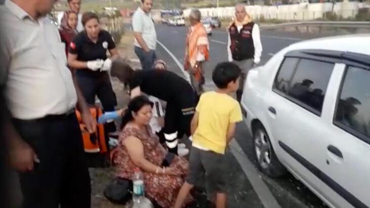 Refüje çarpan otomobil, karşı şeride geçti: 6 yaralı