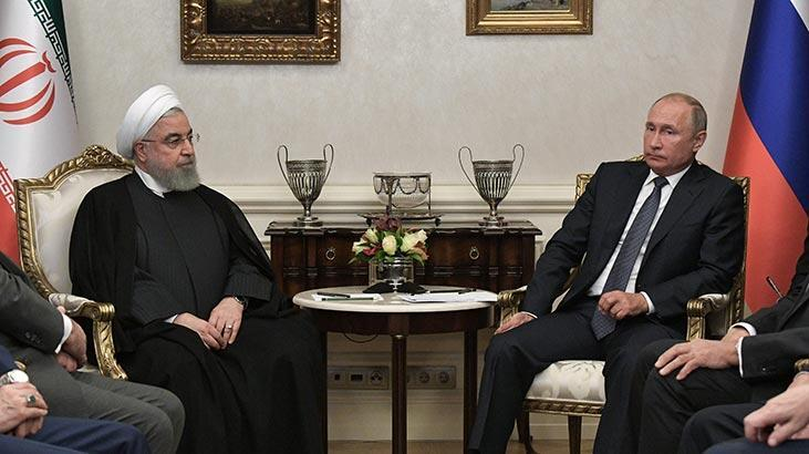 Üçlü zirve öncesi Putin ve Ruhani bir araya geldi
